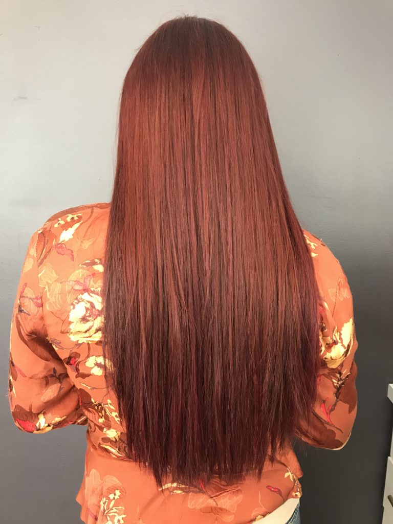 Red Extensions Finish